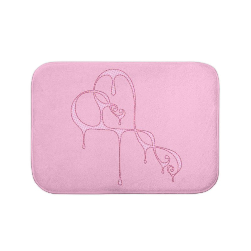Bleeding Heart (Polka Dots Light Pink) Home Bath Mat by Demeter Designs Artist Shop