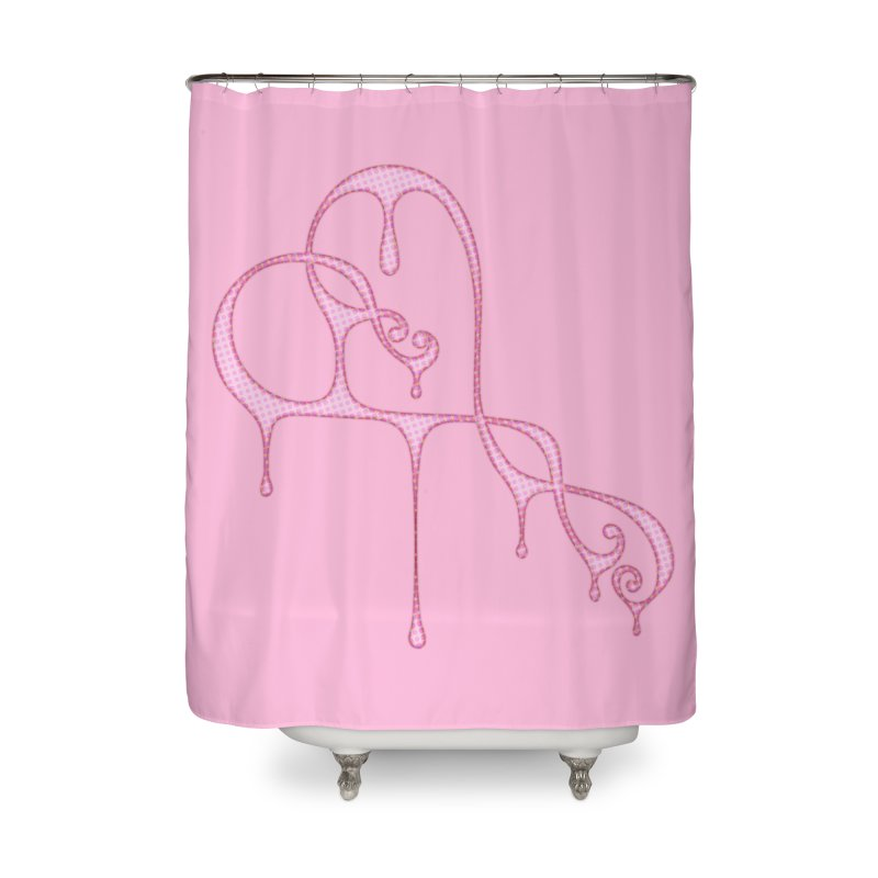 Bleeding Heart (Polka Dots Light Pink) Home Shower Curtain by Demeter Designs Artist Shop