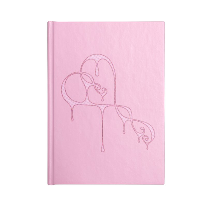 Bleeding Heart (Polka Dots Light Pink) Accessories Blank Journal Notebook by Demeter Designs Artist Shop