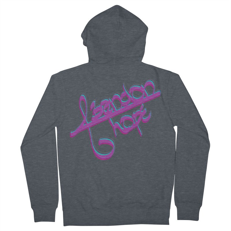 Abandon Hope Men's French Terry Zip-Up Hoody by Demeter Designs Artist Shop