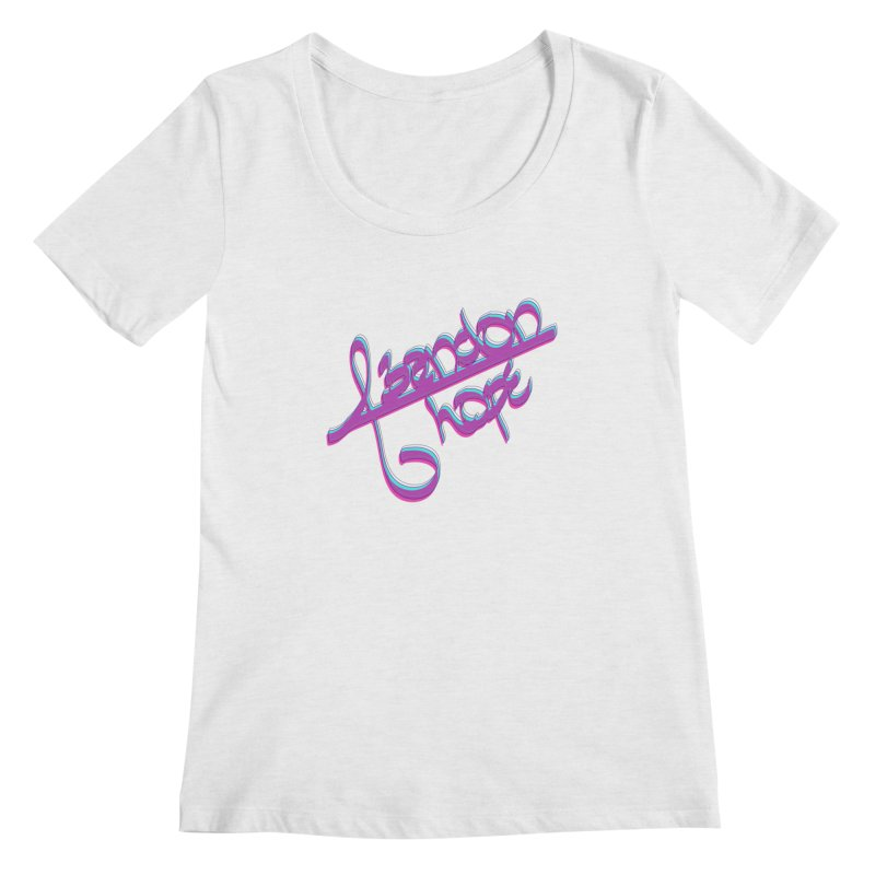 Abandon Hope Women's Regular Scoop Neck by Demeter Designs Artist Shop