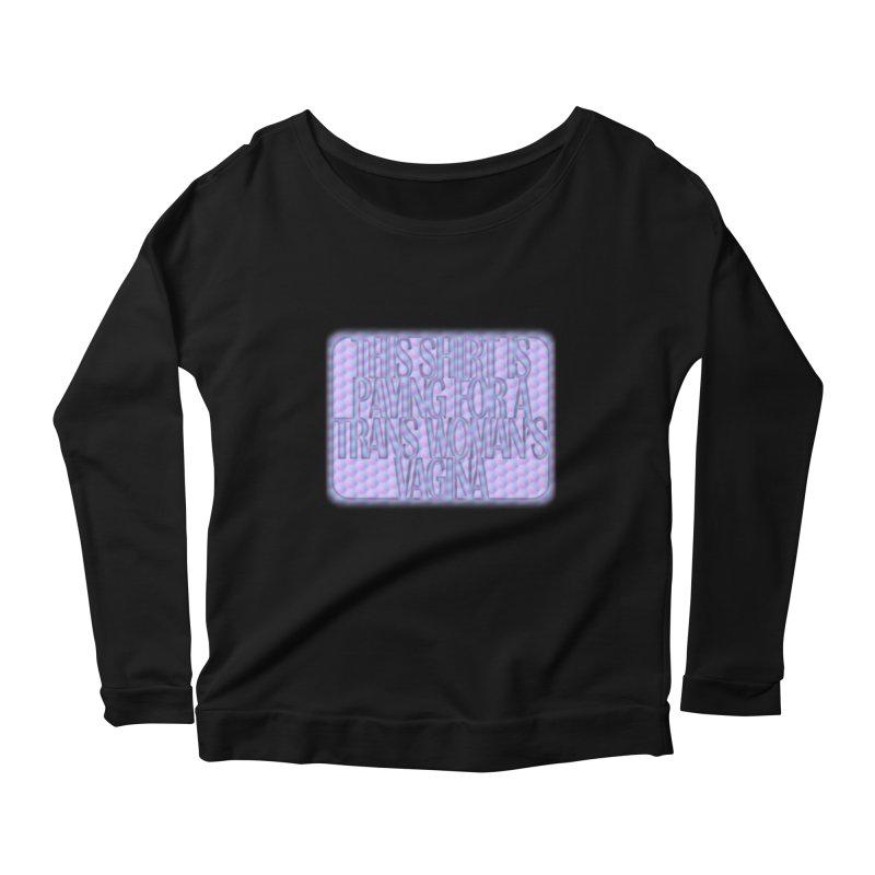 Adopt A Trans Girl Women's Scoop Neck Longsleeve T-Shirt by Demeter Designs Artist Shop