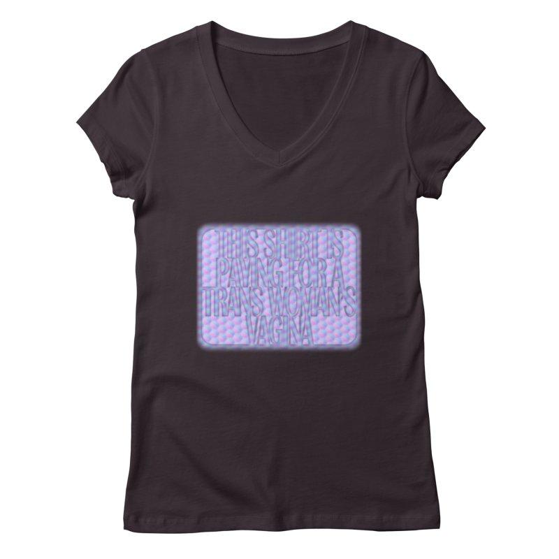 Adopt A Trans Girl Women's Regular V-Neck by Demeter Designs Artist Shop