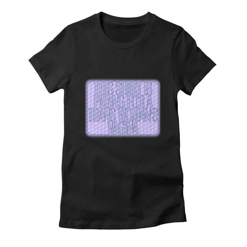 Adopt A Trans Girl Women's Fitted T-Shirt by Demeter Designs Artist Shop
