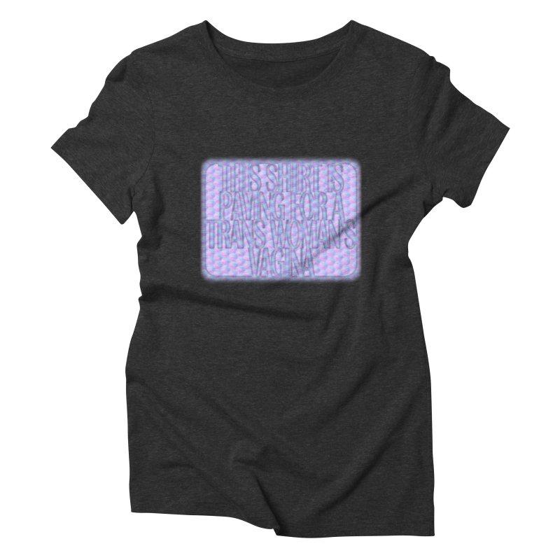 Adopt A Trans Girl Women's Triblend T-Shirt by Demeter Designs Artist Shop
