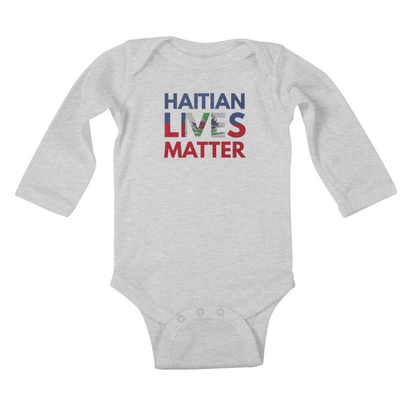 Haitian Lives Matter Kids Baby Longsleeve Bodysuit by Demione Louis Shop