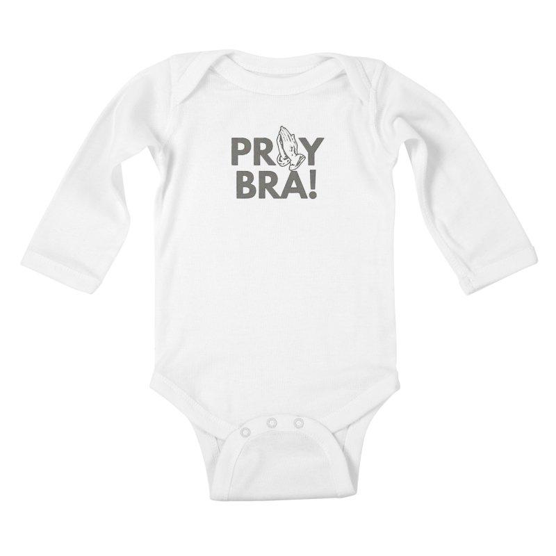 Pray Bra! Kids Baby Longsleeve Bodysuit by Demione Louis Shop