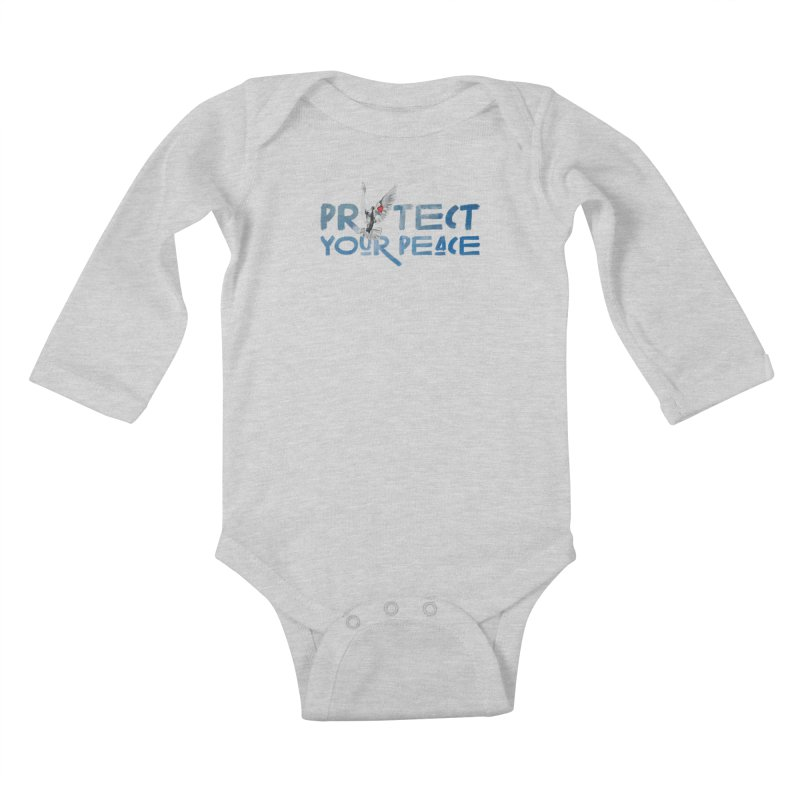 Protect Your Peace Kids Baby Longsleeve Bodysuit by Demione Louis Shop