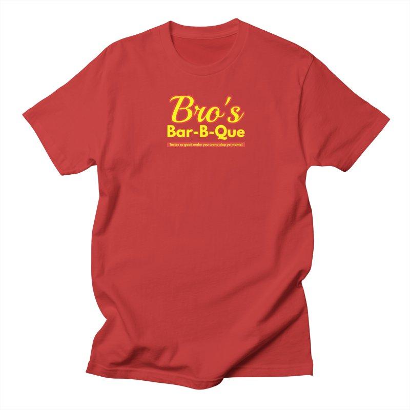 Bro's Bar-B-Que Men's T-Shirt by Demione Louis Shop