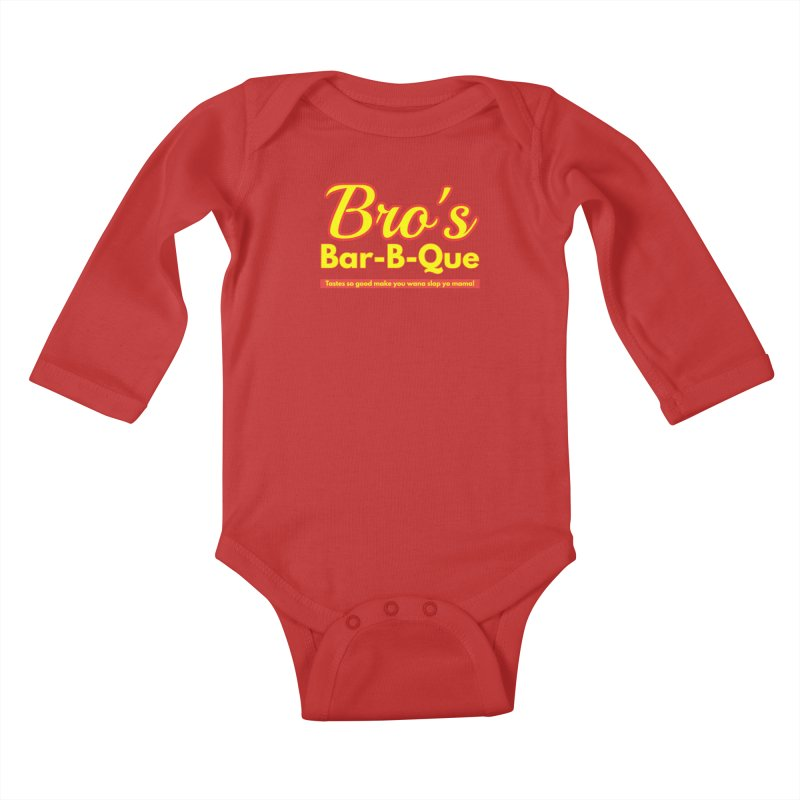 Bro's Bar-B-Que Kids Baby Longsleeve Bodysuit by Demione Louis Shop