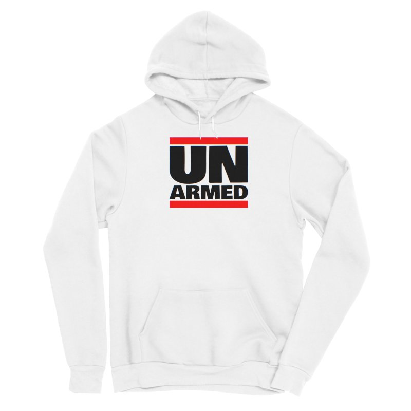 UN Armed | White Men's Pullover Hoody by Demione Louis Shop