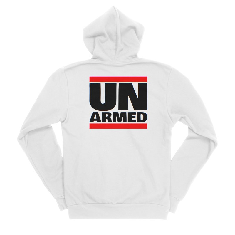 UN Armed | White Men's Zip-Up Hoody by Demione Louis Shop