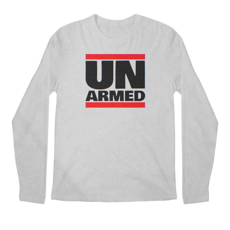 UN Armed | White Men's Longsleeve T-Shirt by Demione Louis Shop
