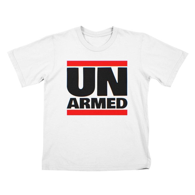 UN Armed | White Kids T-Shirt by Demione Louis Shop