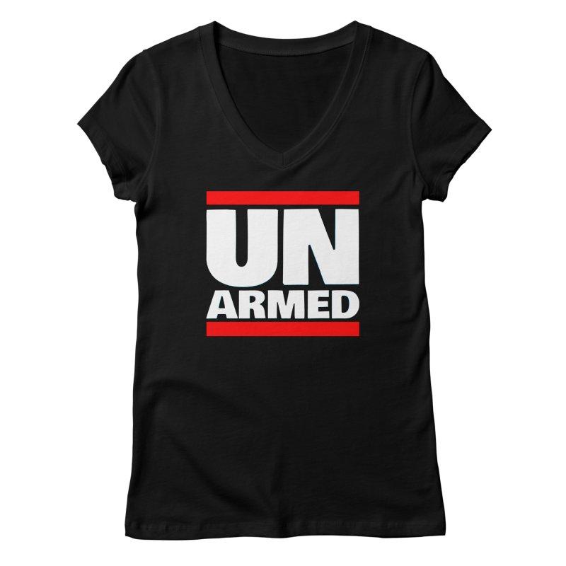 UN Armed | Black Women's V-Neck by Demione Louis Shop