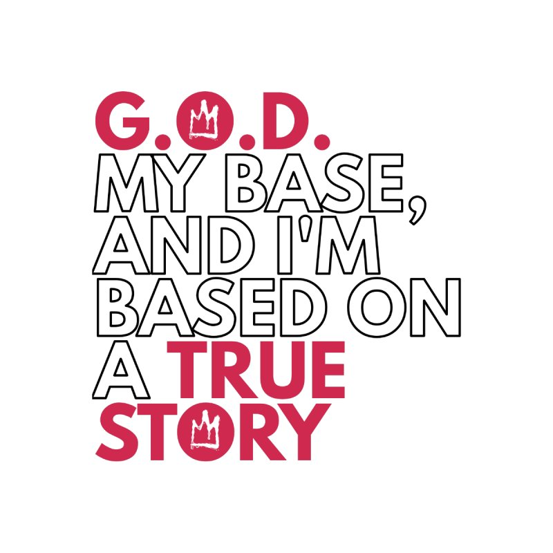 True Story (White) Lyric T-Shirt Men's T-Shirt by Demione Louis Shop