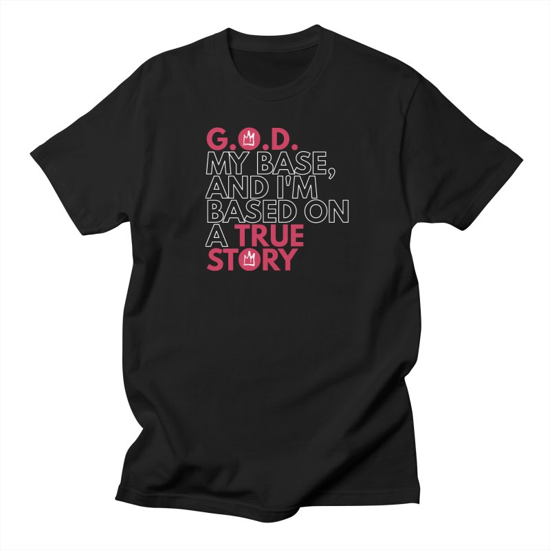 True Story (Black) Lyric T-Shirt Men's T-Shirt by Demione Louis Shop