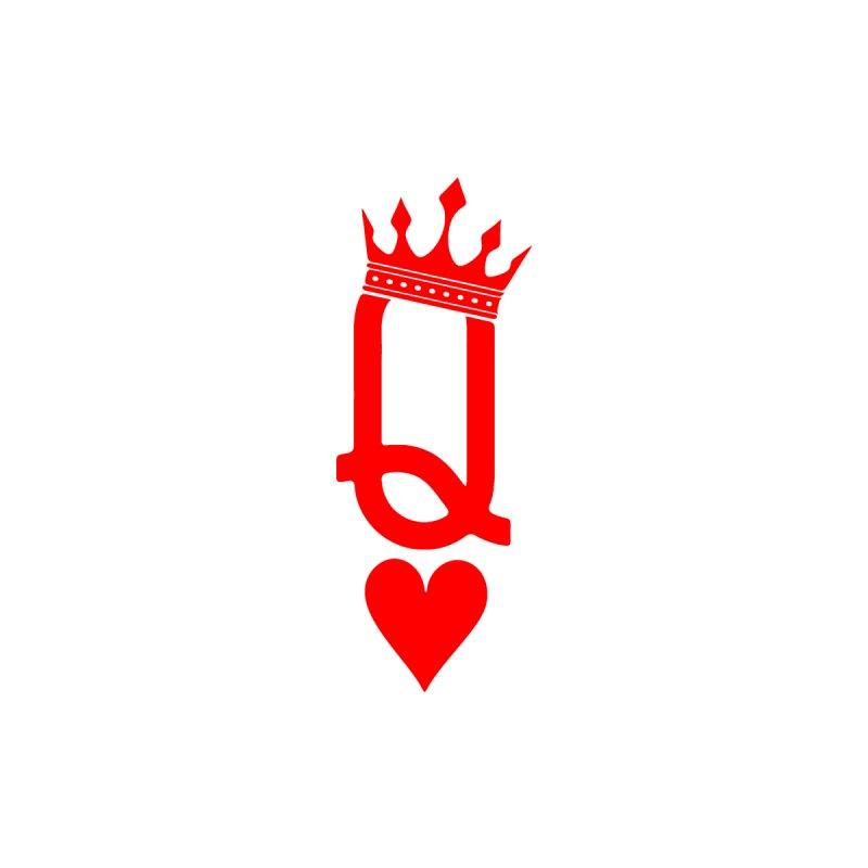 Queen Of Hearts Men's V-Neck by Demione Louis Shop