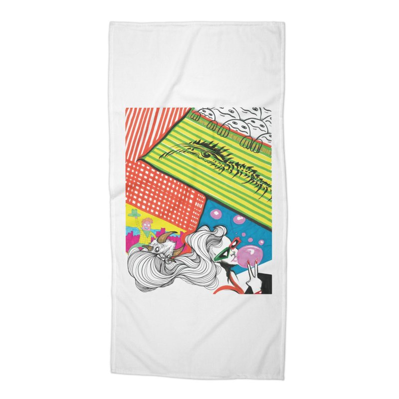 Life's a Party Accessories Beach Towel by Democratee