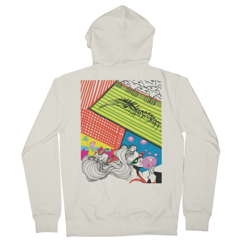 Life's a Party Men's French Terry Zip-Up Hoody by Democratee