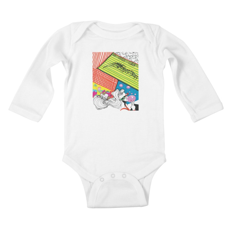 Life's a Party Kids Baby Longsleeve Bodysuit by Democratee