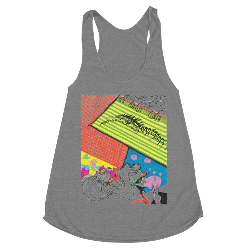 Life's a Party Women's Racerback Triblend Tank by Democratee