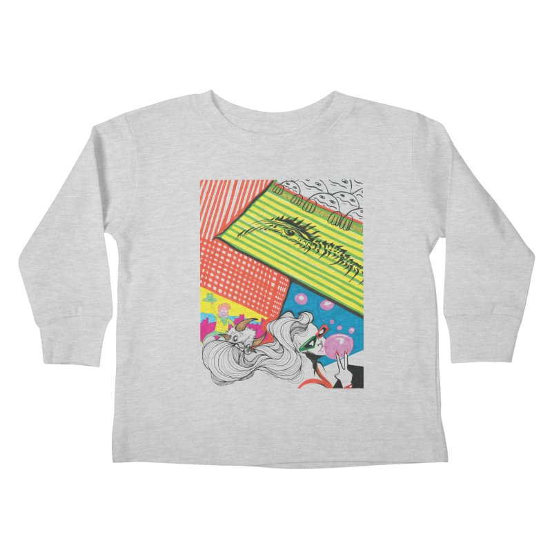 Life's a Party Kids Toddler Longsleeve T-Shirt by Democratee