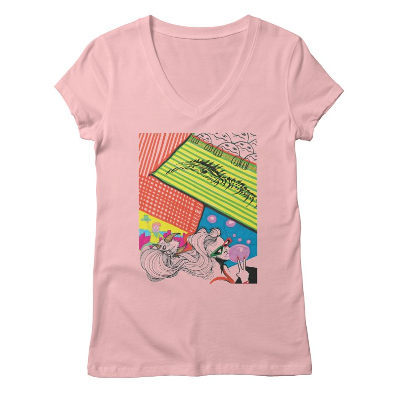 Life's a Party Women's Regular V-Neck by Democratee