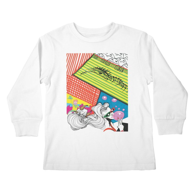 Life's a Party Kids Longsleeve T-Shirt by Democratee