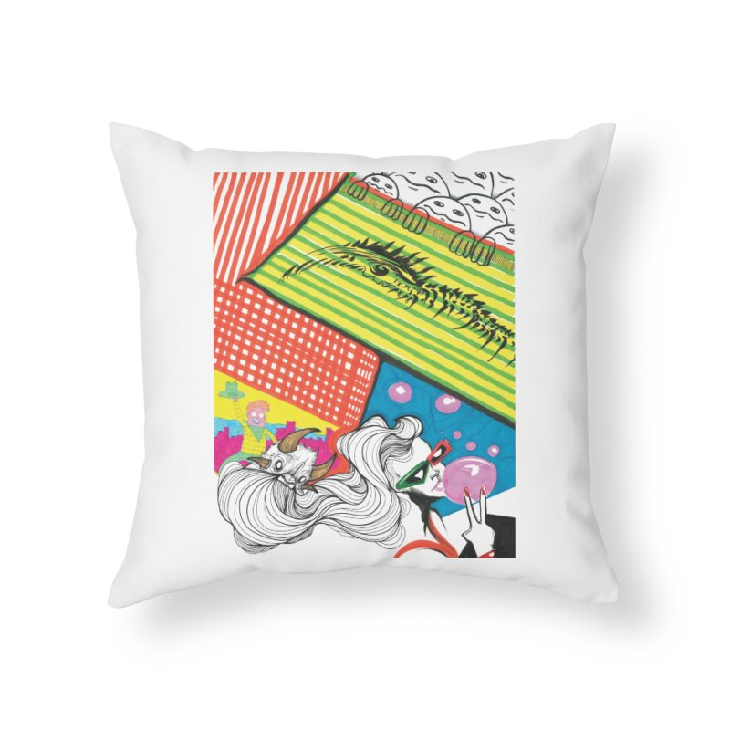 Life's a Party Home Throw Pillow by Democratee