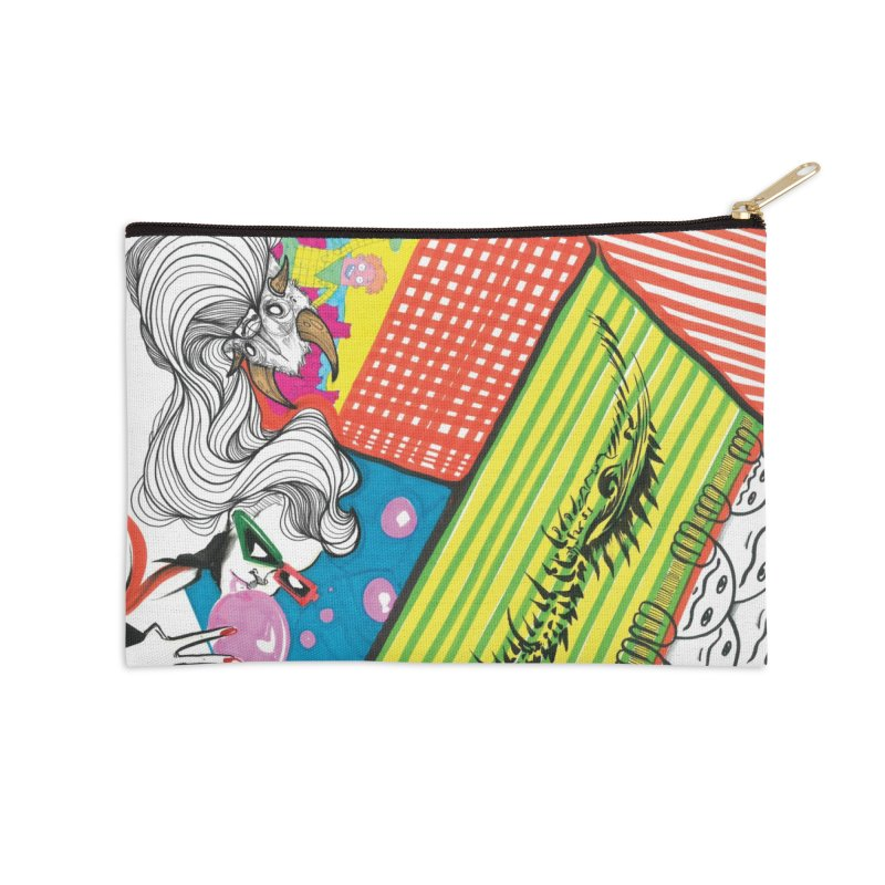 Life's a Party Accessories Zip Pouch by Democratee