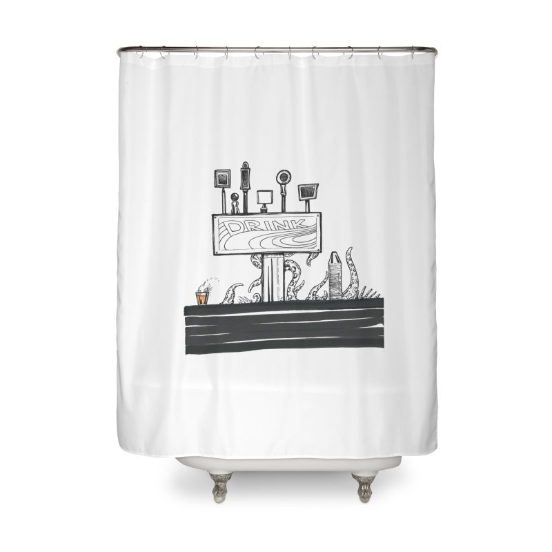 Don't Worry, Be Hoppy Home Shower Curtain by Democratee