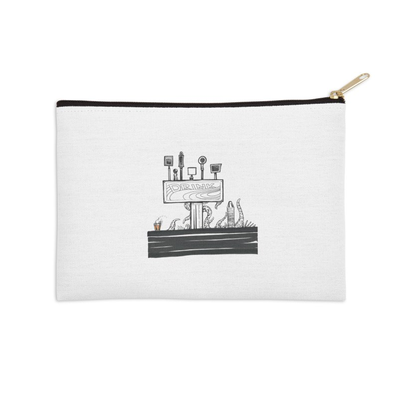 Don't Worry, Be Hoppy Accessories Zip Pouch by Democratee
