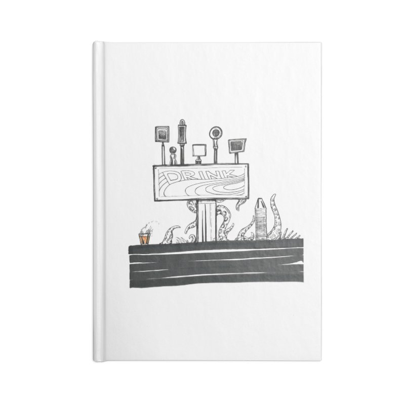 Don't Worry, Be Hoppy Accessories Lined Journal Notebook by Democratee
