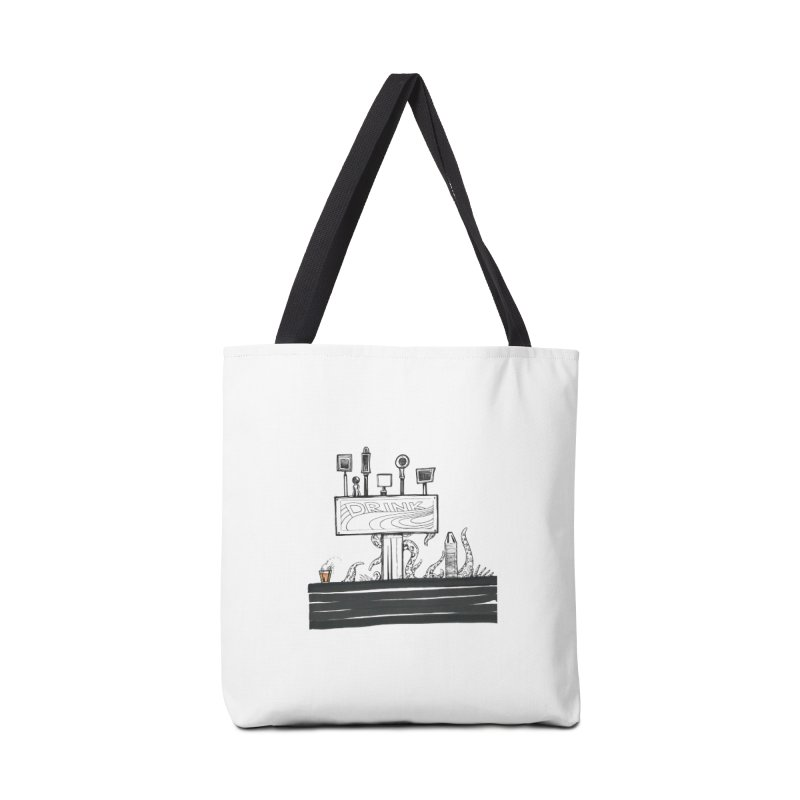 Don't Worry, Be Hoppy Accessories Tote Bag Bag by Democratee