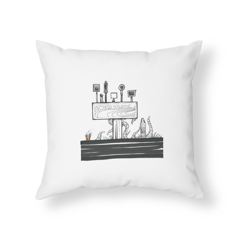Don't Worry, Be Hoppy Home Throw Pillow by Democratee