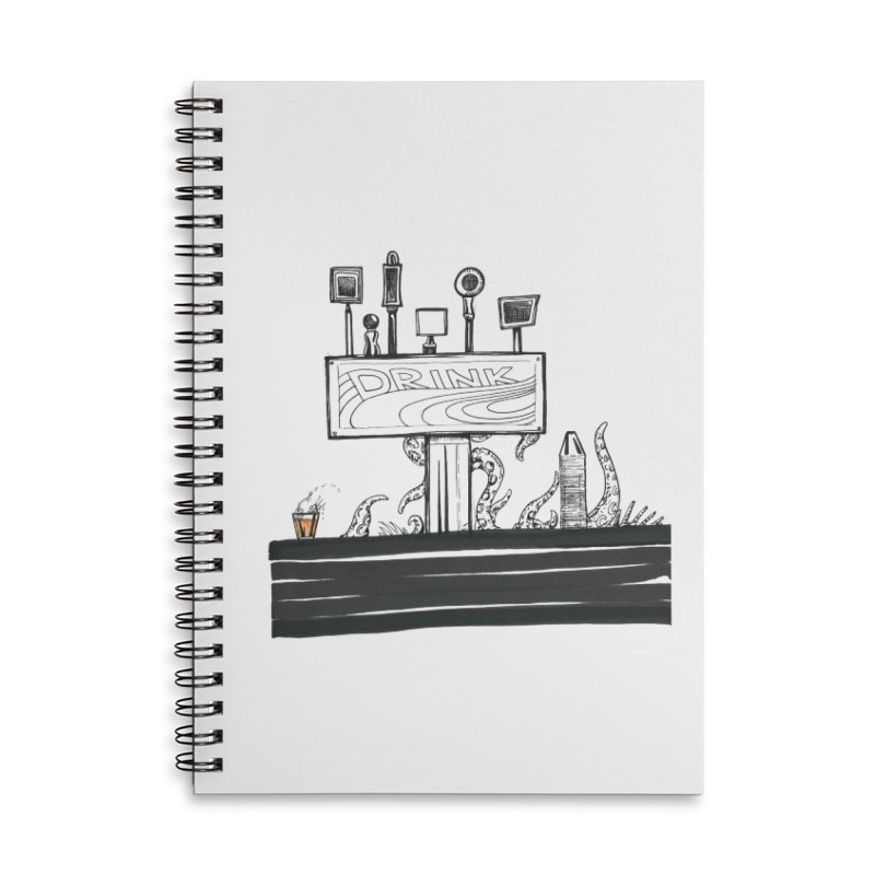 Don't Worry, Be Hoppy Accessories Lined Spiral Notebook by Democratee