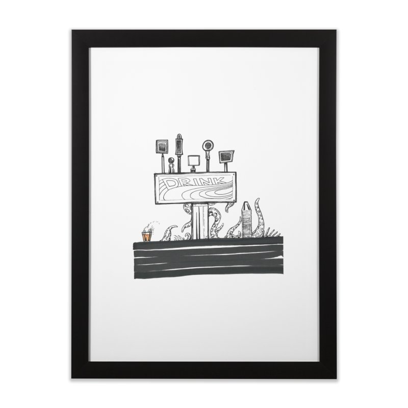 Don't Worry, Be Hoppy Home Framed Fine Art Print by Democratee