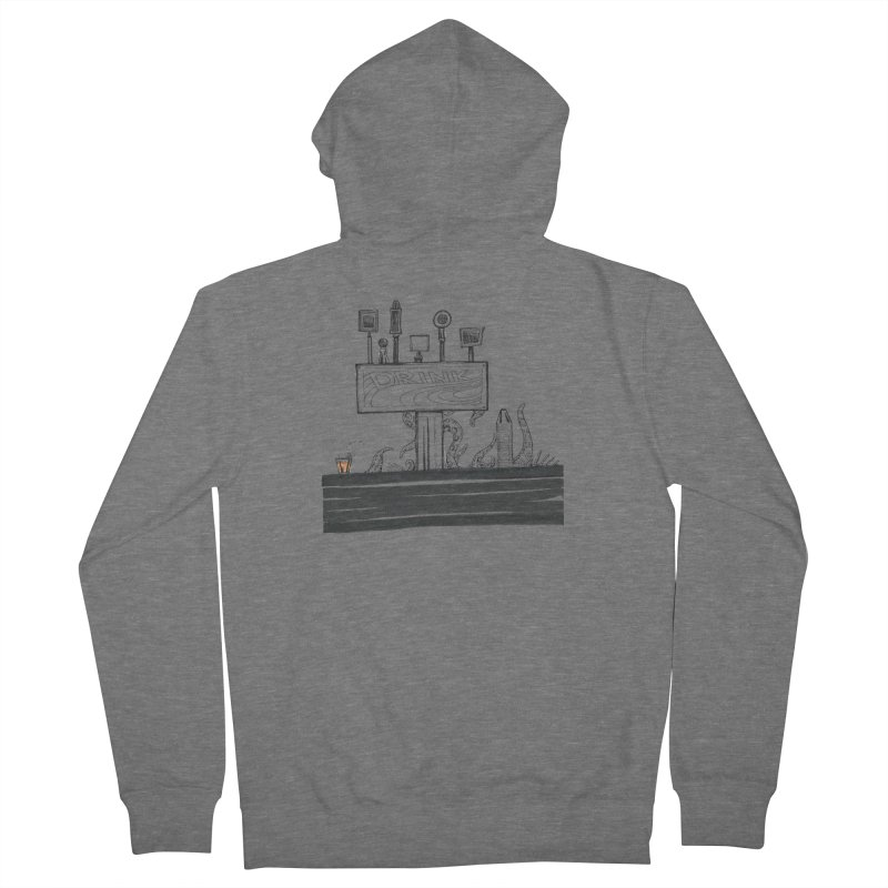 Don't Worry, Be Hoppy Women's French Terry Zip-Up Hoody by Democratee