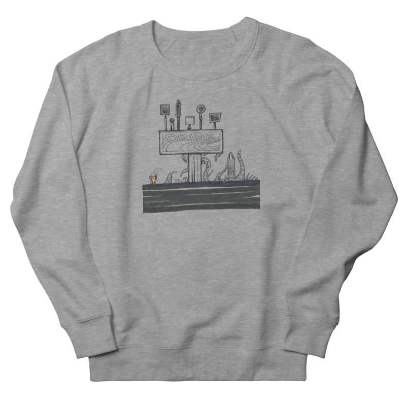 Don't Worry, Be Hoppy Women's French Terry Sweatshirt by Democratee