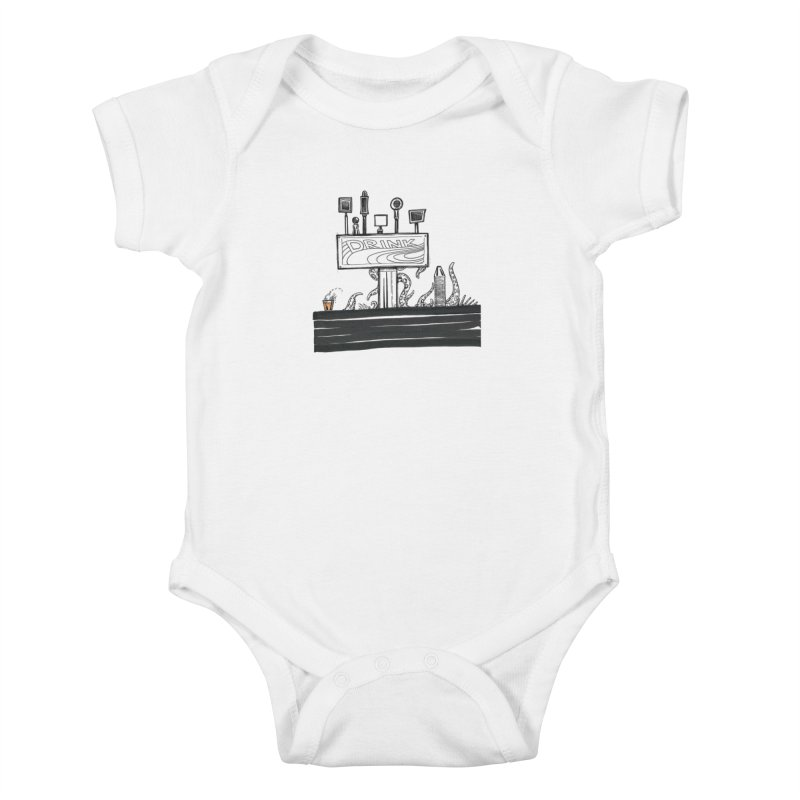 Don't Worry, Be Hoppy Kids Baby Bodysuit by Democratee