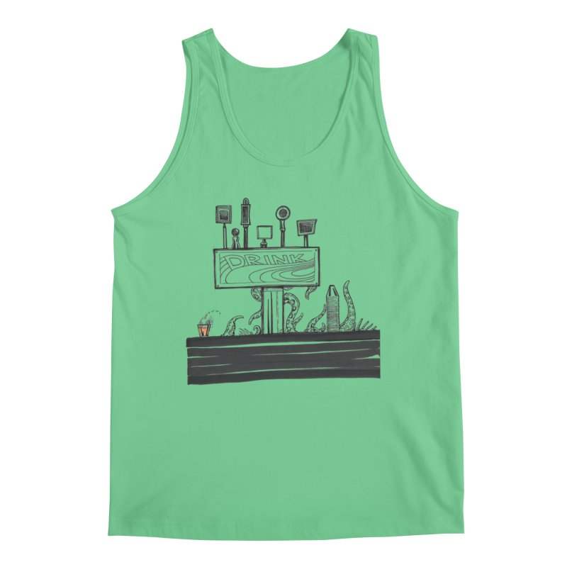 Don't Worry, Be Hoppy Men's Regular Tank by Democratee