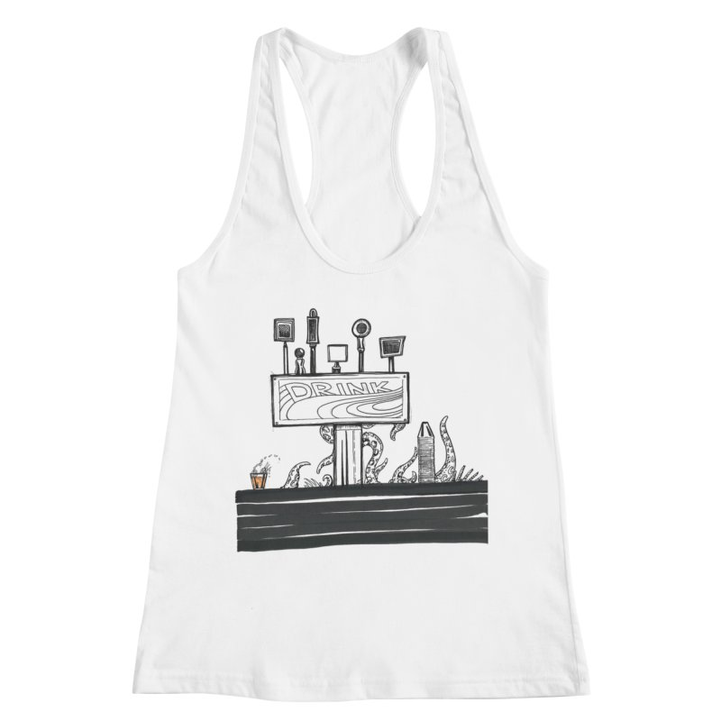 Don't Worry, Be Hoppy Women's Racerback Tank by Democratee