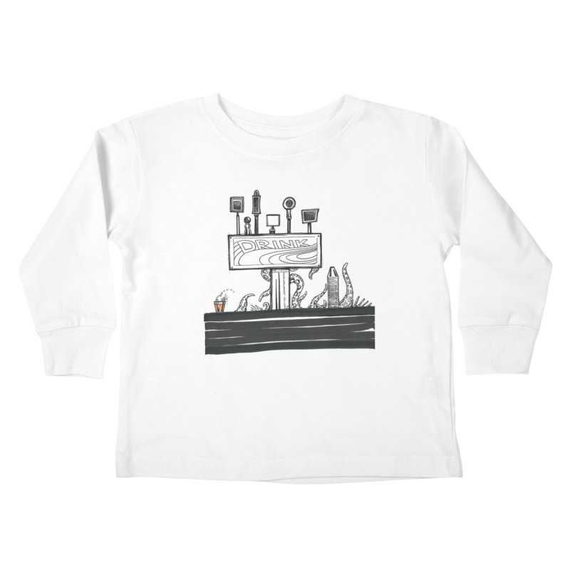 Don't Worry, Be Hoppy Kids Toddler Longsleeve T-Shirt by Democratee