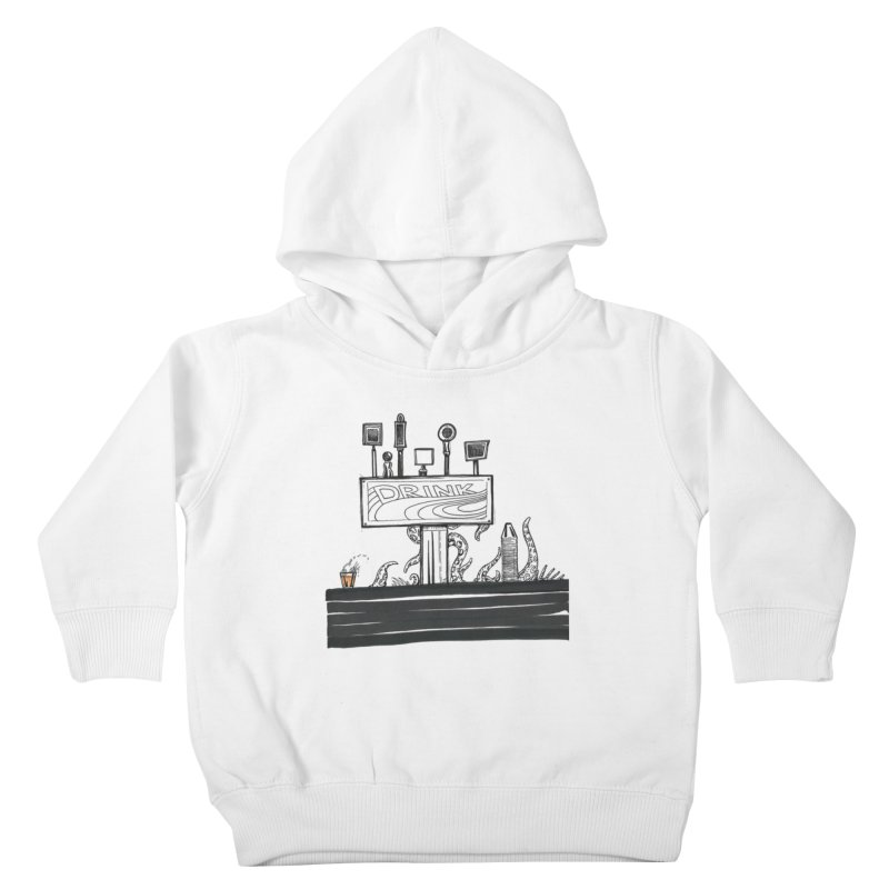 Don't Worry, Be Hoppy Kids Toddler Pullover Hoody by Democratee