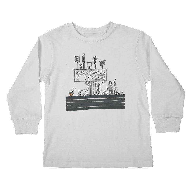 Don't Worry, Be Hoppy Kids Longsleeve T-Shirt by Democratee