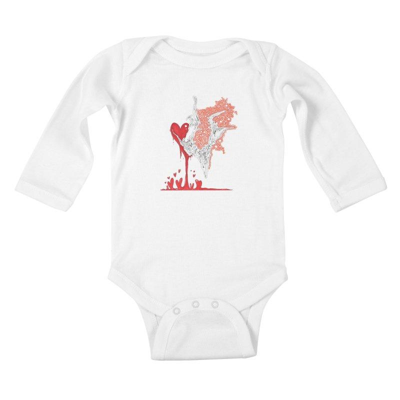 Lovesick Kids Baby Longsleeve Bodysuit by Democratee