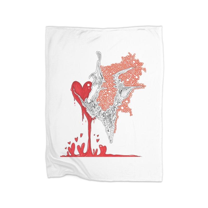 Lovesick Home Fleece Blanket Blanket by Democratee