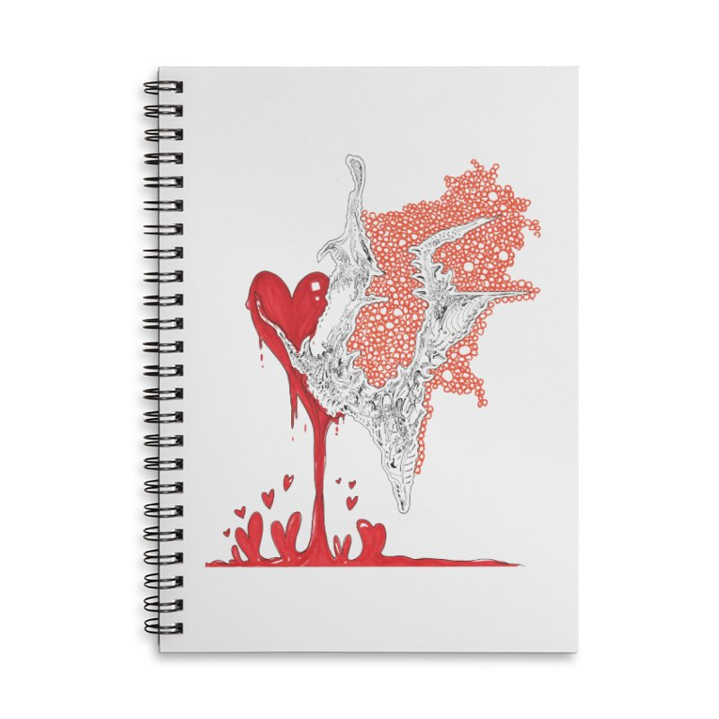Lovesick Accessories Lined Spiral Notebook by Democratee