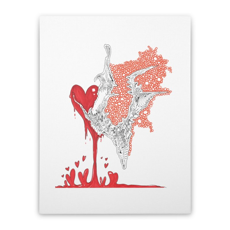 Lovesick Home Stretched Canvas by Democratee